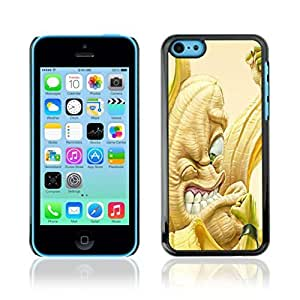 Colorful Printed Hard Protective Back Case Cover Shell Skin for Apple iPhone 5C ( Funny Angry Banana )