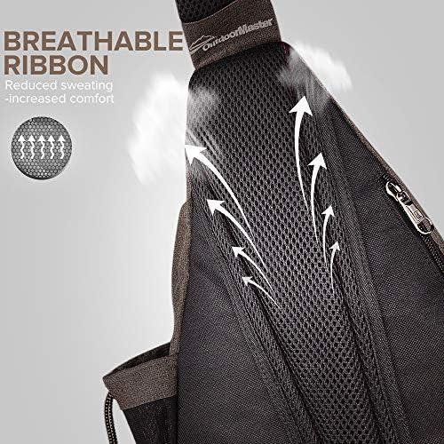 OutdoorMaster Sling Bag  Crossbody Backpack for Women  Men