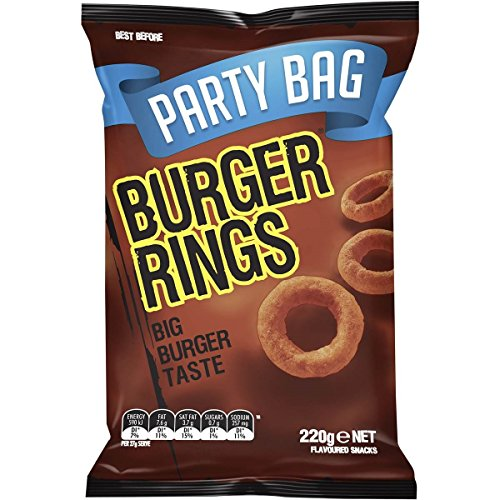 Burger Rings, Party Bag, 220g by -
