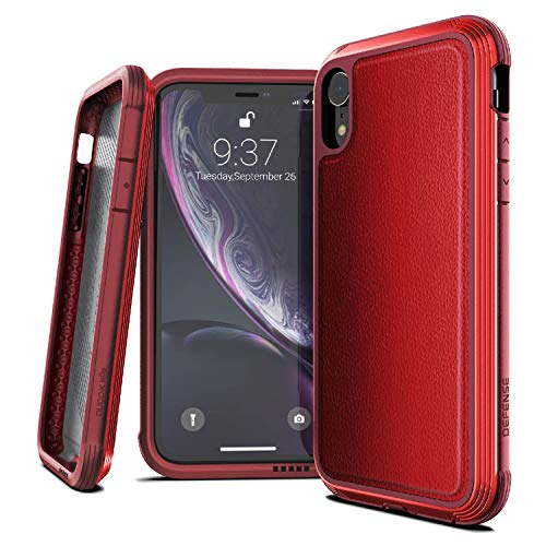 X-Doria Defense Lux Series, iPhone XR Case - Military Grade Drop Tested, Anodized Aluminum, TPU Polycarbonate Protective Case Apple iPhone 6 XR, 6.1