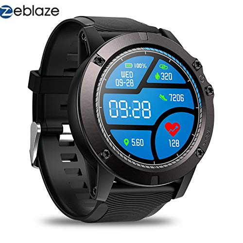 (Zeblaze Vibe 3 PRO - Colorful Touch Display Sports Fitness Tracker Heart Rate IP67 Waterproof Rugged Military Remote Music Fitness Activity Wristband Smartwatch for iOS & Android(Black) )