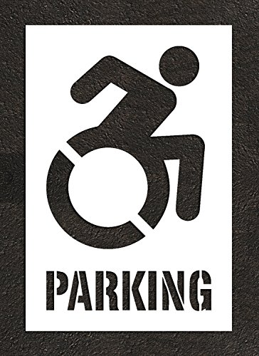 "NY DOT Accessible Icon - 40"" HANDICAP STENCIL with PARKIN..."