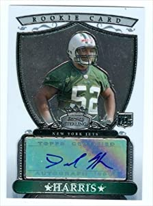 Autograph Warehouse 39423 David Harris Autographed Football Card New York Jets 2007 Bowman Sterling Rookie Card No. Bsra-Dh