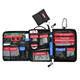 "FUNANASUN First Aid Kit Soft Case Molle Medical EMT Pouch Bag Waterproof for Home School Car Office Emergency Camping Hunting Sports (Large(9.8""x5.9""x3""))"