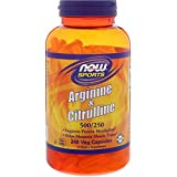 Cheap Arginine & Citrulline 500/250 Now Foods 240 VCaps
