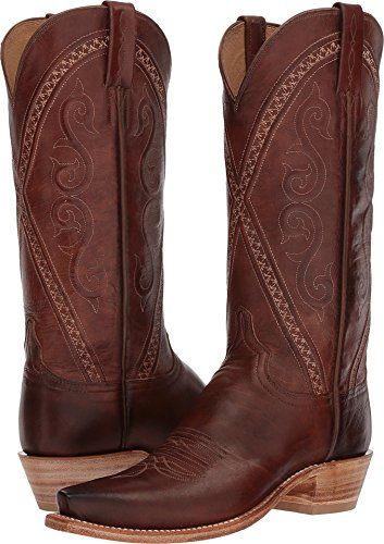 - Lucchese Women's Darlene Tan Bright Dog Goat 7 B US