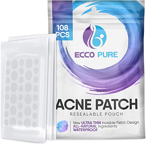 Acne Patch – Hydrocolloid Pimple Patch for Face Zits – Blemish Spot Skin Care Treatment – Invisible Dots, Waterproof…