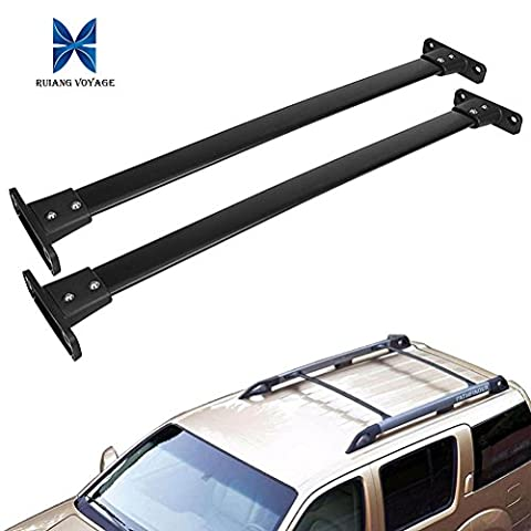 RUIANG VOYAGE New OE Style Black Aftermarket Aircraft Aluminum Aftermarket Roof Rack Cross Bar Luggage Cargo Carrier Rail & Mounting Hardwares Fit 2005-2012 Nissan Pathfinder (Carriers 2009)