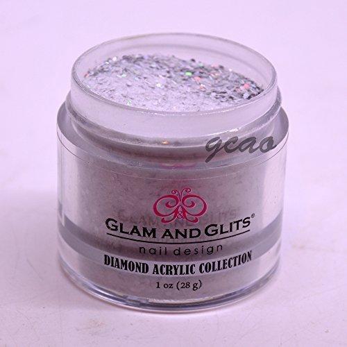 Glam Glits Acrylic Powder 1 Ounces, Sterling Silver