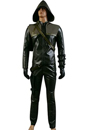 CosplaySky Green Arrow Oliver Queen Arrow Man Halloween Costume Large  sc 1 st  Amazon.com & Amazon.com: CosplaySky Green Arrow Oliver Queen Arrow Man Halloween ...