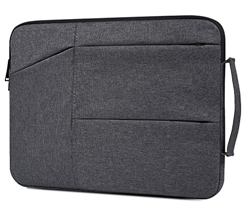 11.6 Inch Waterproof Laptop Briefcase Fit Acer R 11 Chromebook, Samsung Chromebook 3, Lenovo 11.6 Chromebook, Surface Pro 6, DELL ASUS HP Lenovo Chromebook 11.6 Protective Notebook Bag, Space Grey