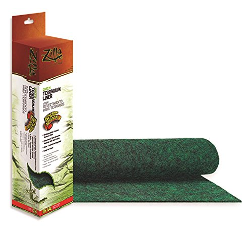 Zoo Med Cage Carpet - Zilla Reptile Terrarium Bedding Substrate Liner, Green, 55G