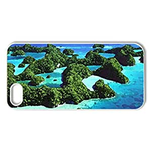 Meandering Island. - Case Cover for iPhone 5 and 5S (Oceans Series, Watercolor style, White)