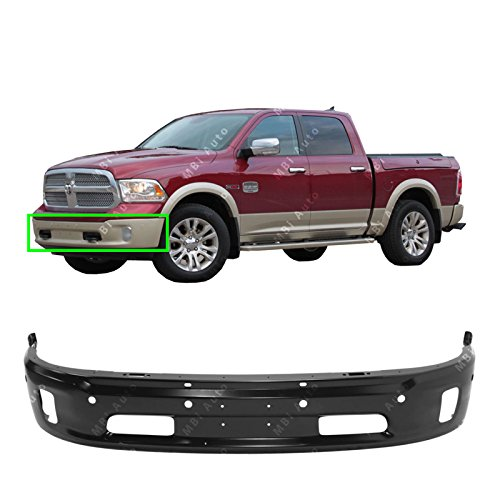 MBI AUTO - Primered, Steel Front Bumper Face Bar for 2014-2018 RAM 1500 W/Fog & Park 14-18, ()