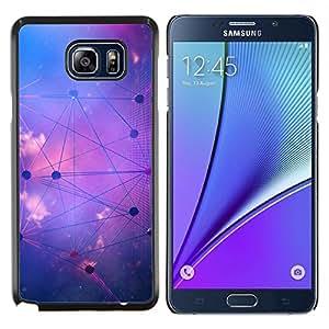 Stuss Case / Funda Carcasa protectora - Forma de Estrella Sistema Sky Purple Astrología - Samsung Galaxy Note 5