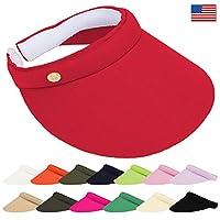 DRY77 EagleLine Clip on Golf Visor Hat Ladies Women Wide Brim Sun Sport Tennis