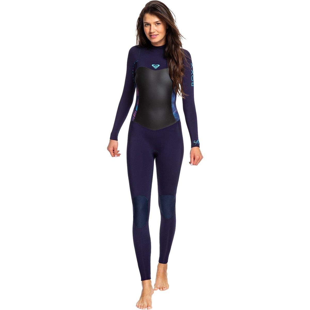 Roxy 3/2 Syncro Back-Zip GBS Wetsuit - Women's Blue Ribbon/Coral Flame, 14 by Roxy