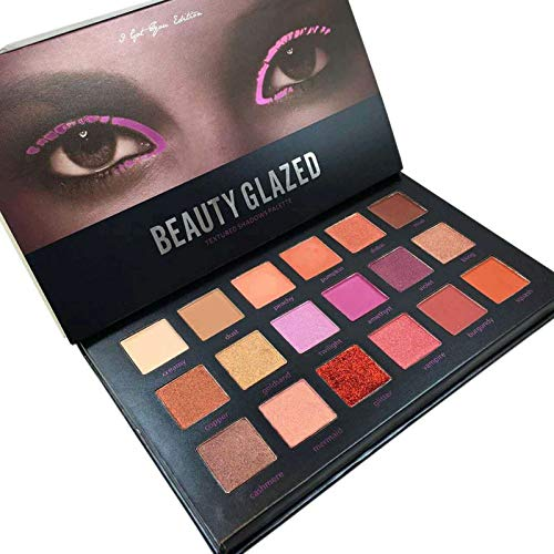 Shimmer Matte Glitter Diamond Makeup Eye Shadow Palette Desert Dusk Tutorial Eyeshadow Cosmetics Orange -