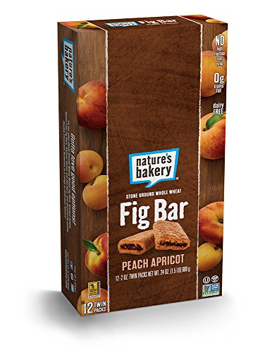 Nature's Bakery Whole Wheat Fig Bar, Vegan + Non-GMO, Peach Apricot (12 Count)