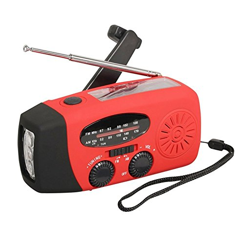Emergency Radio,Leona Margaret Solar Weather Radio Hand Crank Self Powered AM/FM/NOAA Weather Radio LED Flashlight 1000mAh Smart Phone Charger by Leona Margaret