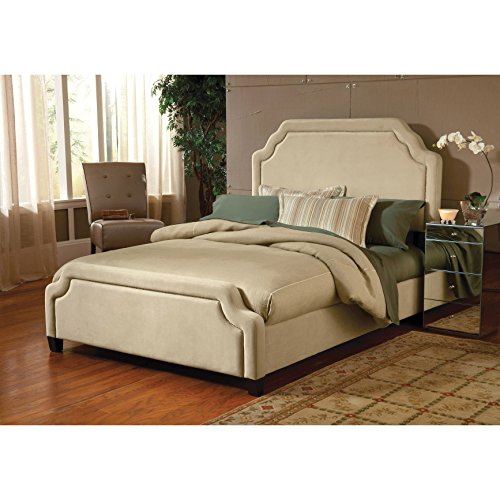 Hillsdale Furniture 1554BKRC Carlyle Bed Set with Rails, King, Chocolate