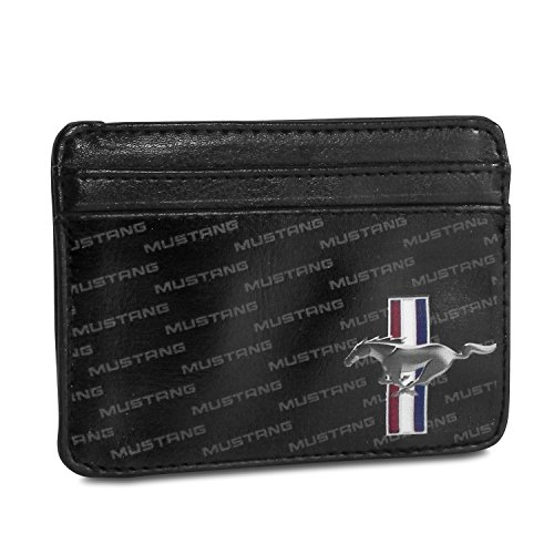 Ford Mustang Pattern Synthetic Leather Credit Cards Weekend Wallet