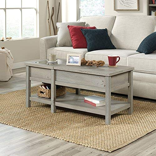 Sauder Cottage Road Lift Top Coffee Table, Mystic Oak Cottage Oak Coffee Table