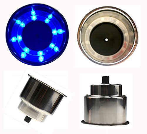 Stainless Steel Drink Holder With Led Light