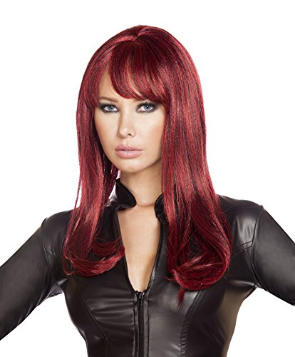 Roma Costume Women's Burgundy Wig, Burgundy, One Size (Body Builder Costume)