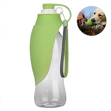 Sannysis Botella de Agua para Perros Portátil, Botella de Agua de Viaje para Mascotas, dispensador de Agua Reversible y liviano para Perros y Gatos (Verde): ...