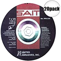 Sait 20085 7 x 1/4 x 5/8-11 A24N Metal Grinding by SAIT