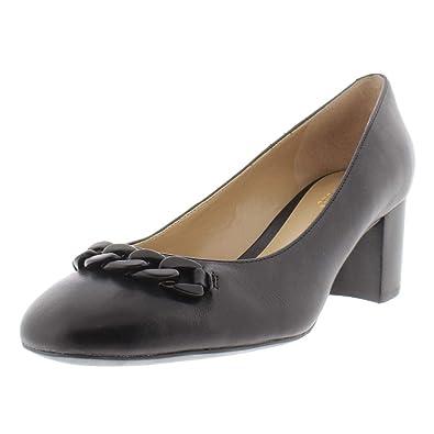 a31aa230794 Amazon.com   Lauren Ralph Lauren Womens Jacksen Leather Block Heels ...