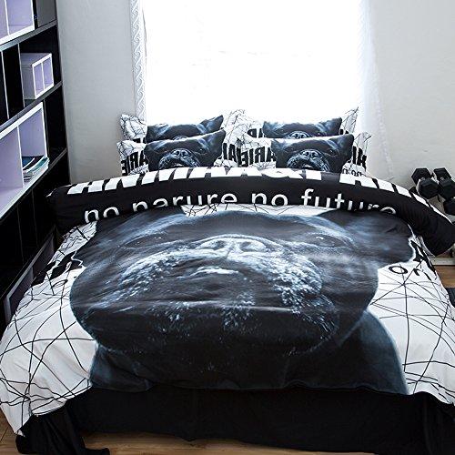 Amazing Puppy Cotton Microfiber 3pc 90''x90'' Bedding Quilt Duvet Cover Sets 2 Pillow Cases Queen Size by DIY Duvetcover