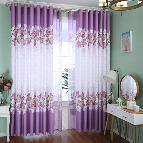 Curtain ZYL Curtains Finished Curtains Half Blackout Curtains Bedroom Bedroom Floor Window Balcony Soundproof Living Room Curtains Simple Modern Nordic Classical Curtains Blinds Multi-functional curta