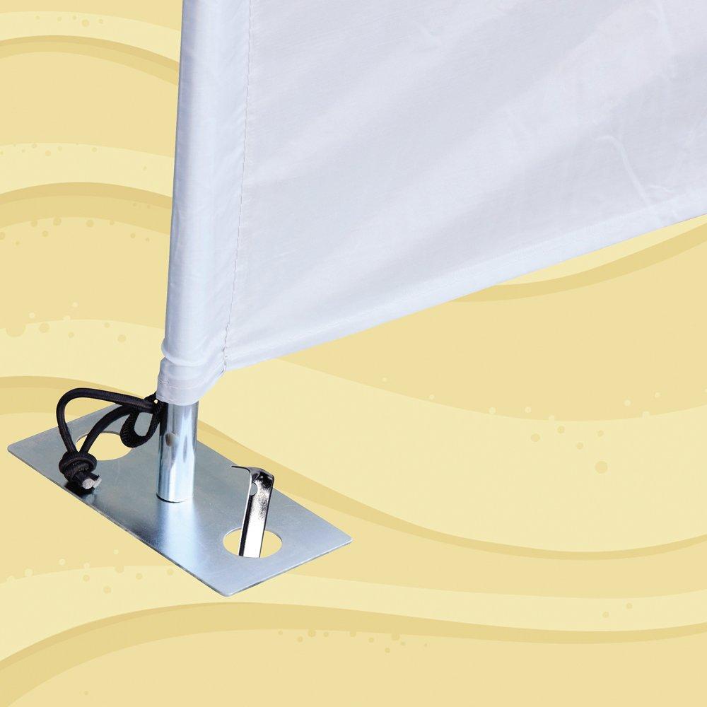 gut gegen starker Wind 4X Aufstellf/ü/ße Verankerung f/ür Sichtschutz Camping Strand Garten Seitenmarkise Befestigung-Halter Sichtschutzplane Sichtschutztuch 4-St/ück Stahl-F/ü/ße f/ür g/ängige Windschutz