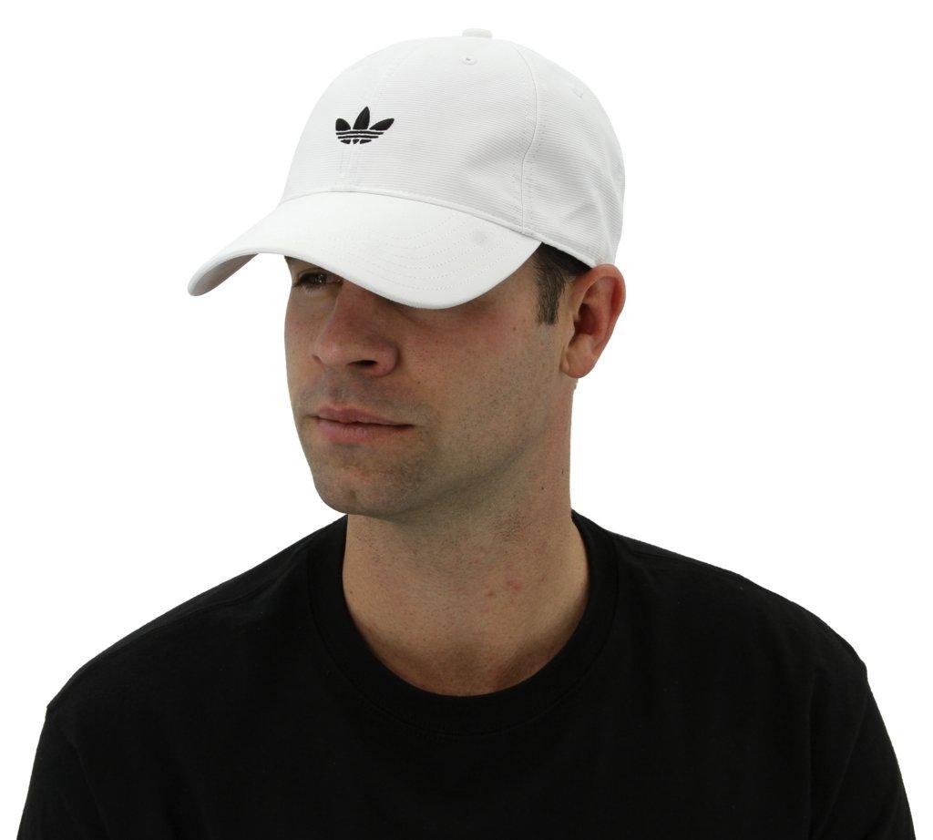 adidas Men's Originals Relaxed Strapback Cap, White, One Size by adidas Originals (Image #5)