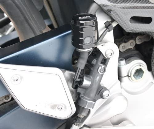 GSG Bremsfl/üssigkeitsbeh/älter schwarz eloxiert Hinten Yamaha MT-01 RP12 05-06 ABE