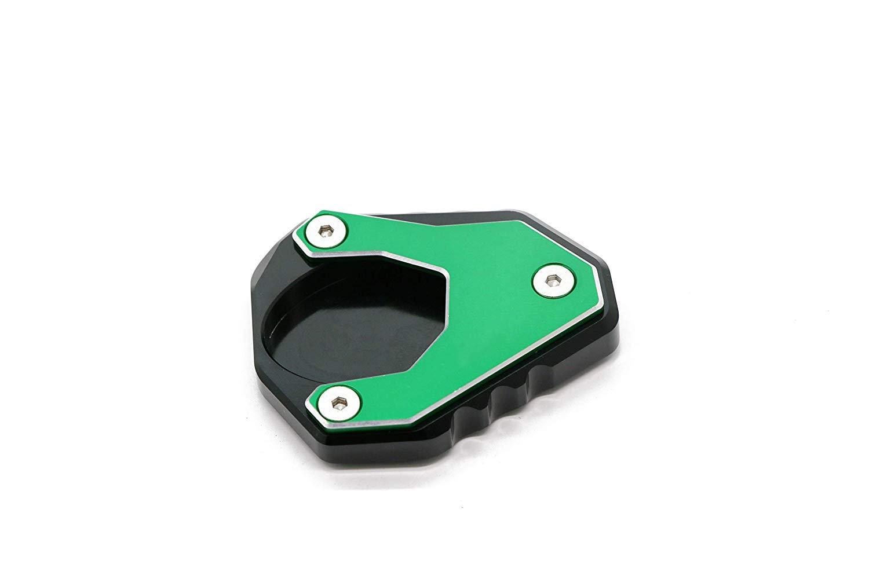 Green Coolsheep Motorcycle Side Kick Stand Extension Pad for Kawasaki Ninja 400 2018 2019