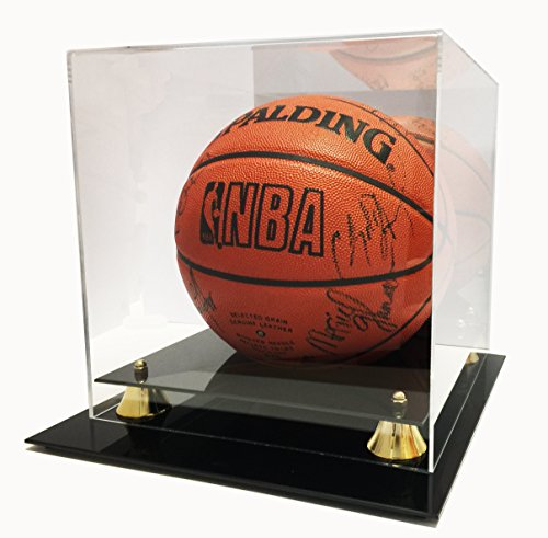 0.5' Display - Max Protection Deluxe UV Protected Acrylic Basketball Display Case with Mirrored, Back