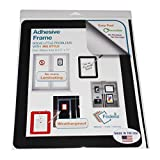 Fodeez Frames Self-Stick Adhesive Sign Display/Dry Erase Board, Black, 8.5''x11'' Pack of 5 (FF-8511-05-SOL-BLA)