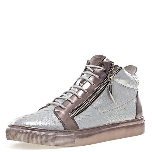 (Jump J75 by Men's Zack Mid-Top Fashion Sneaker Silver Snake 15 D US)