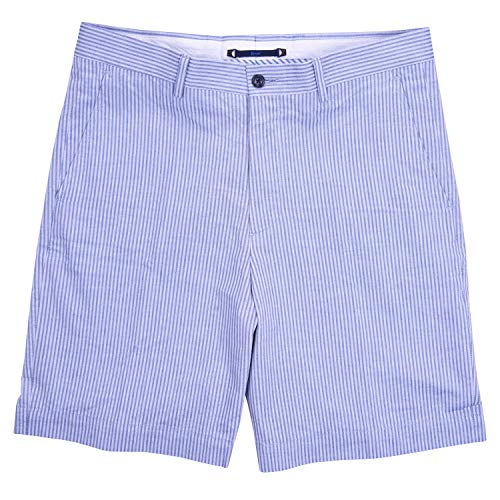 Haspel Seersucker Short - Comus Blue ()