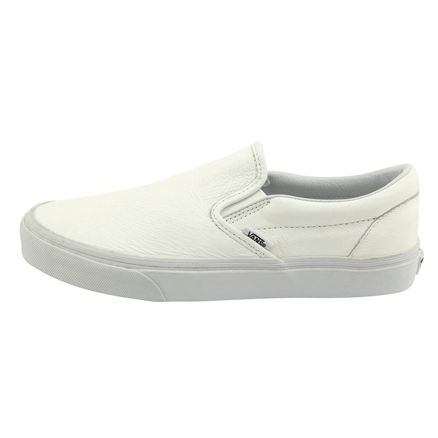 vans leather slip on shoes