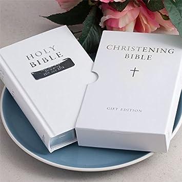 Personalisierte Bibel Leder Zur Taufe Englischsprachig