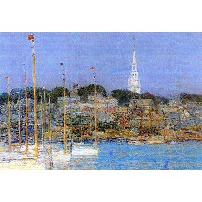 (13x19) Childe Hassam Cat Boats Newport Art Print Poster