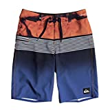 Quiksilver Boys' Big Highline Lava Division Kids Swim Trunks, Navy Blazer, 26/12