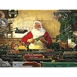 Cobble Hill Santa and His Trains, 500-Piece