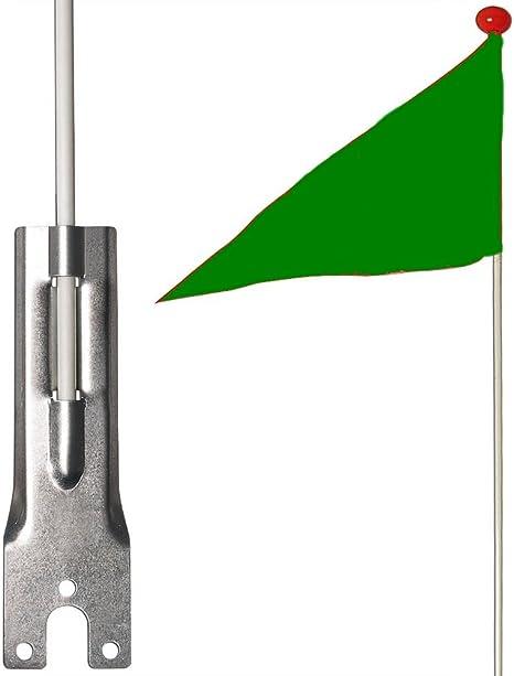 Banderín de seguridad bicicleta niño bandera verde: Amazon.es ...