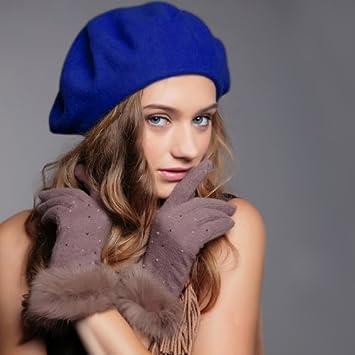 Damen Warm Hut Wolle Mode Kunst Französisch Barette Tam Beanie Kappe Zubehör