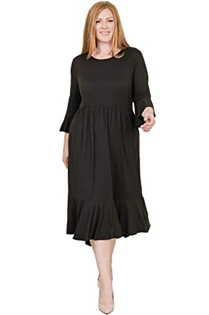 f03009a9157 Pastel by Vivienne Women s Mermaid Hem Midi Dress in Plus Size X-Large Black